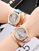cheap -ladies watch fashion fashion diamond-studded tower print belt