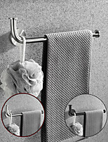 cheap -Multifunctional Towel Bar Brushed/Painted Finish Toilet Paper Holder with Coat Hook 304 Stainless Steel Mattle Black/Silver Wall-mounted
