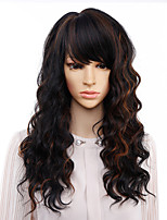 cheap -Long Natural Wave Wigs for Women Black Brown Ombre Blonde Wig With Bangs Bob Synthetic Hair wigs Peruca Cosplay and Party