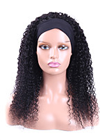 cheap -Headband Wigs for Black Women Kinky Curly Headband Wigs Human Hair Wigs Headband Wig Machine Made Wigs 150% Density 12-30inch