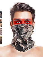 cheap -Men's Cycling Face Mask Cover Outdoor UV Sun Protection Windproof Quick Dry Breathable Hunting Ski / Snowboard Fishing Camouflage Color Camouflage Camouflage Gray