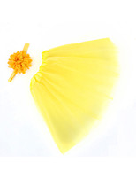 cheap -new children chiffon flower baby suit baby photography gauze skirt tutu skirt hair band suit