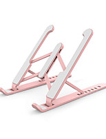 cheap -portable laptop riser, laptop stand for desk, 6 angles adjustable ergonomic holder for 10-15.6inch computer (pink)