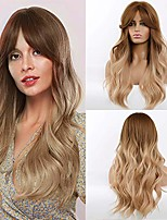 cheap -morica long blonde wig for women ombre wavy wig 26 inches synthetic wigs long blonde wavy wig middle part heat resistant daily wear