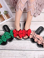 cheap -Girls' Sandals Comfort Flower Girl Shoes Princess Shoes PU Big Kids(7years +) Daily Home Walking Shoes Bowknot Red Pink Green Spring Summer