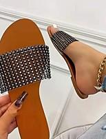 cheap -Women's Sandals Flat Heel Round Toe PU Color Block Gold Gray