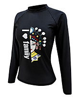 cheap -Women's Diving Rash Guard Spandex Swimwear UV Sun Protection Quick Dry Long Sleeve Swimming Diving Surfing Snorkeling Autumn / Fall Spring Summer