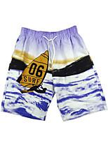 cheap -Men's Swim Shorts Swim Trunks Bottoms Breathable Quick Dry Drawstring - Swimming Surfing Floral / Botanical Tie Dye Autumn / Fall Spring Summer / Micro-elastic