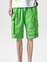 cheap -Men's Hiking Cargo Pants Hiking Shorts Drawstring Summer Outdoor Ripstop Quick Dry Multi Pockets Breathable Below Knee Bottoms Black Grey Orange Khaki Green Work Fishing Climbing M L XL XXL XXXL