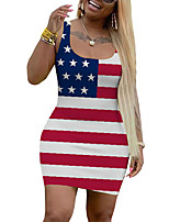 cheap -y324 mandy clothing independent design american independence day national day flag printed dress in stock