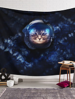 cheap -Wall Tapestry Art Decor Blanket Curtain Hanging Home Bedroom Living Room Decoration Polyester Astronaut Cat