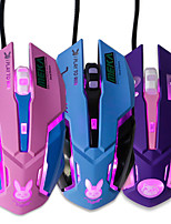cheap -usb wired gaming mouse pink computer professional e-sports mouse 2400 dpi colorful backlit silent mouse for lol data laptop pc