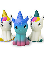 "cheap -Super Slow Rising Squishies Pack. Squishy Unicorns 4.8"" Set of 3. Soft Scented Cute Kawaii, Colorful Animal Stress Relief Toy for Kids and Adults. Amazing Squeeze Toys"