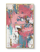 cheap -100% Hand painted Textured Pink Abstract Hand Painted Modern Abstract Oil Painting On Canvas Wall Art For Living Room Home Decoration No Frame Gift