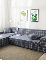 cheap -Sofa Cover  Grey Grid Print 1 Pc Couch Cover Furniture Protector Soft Stretch Slipcover Spandex Jacquard Fabric Super Fit for 14 Cushion Couch and L Shape SofaEasy to Install(1 Free Cushion Cover)