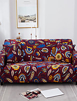 cheap -Bohemian Floral Print Dustproof All-powerful Stretch Sofa Cover Super Soft Fabric with One Free Boster Case