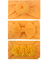 cheap -new soft nylon hair ornaments donut/bow knot/chiffon flower children's jewelry three-piece hair band