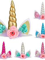 cheap -unicorn headband, unicorn cake decoration, birthday cake decoration, baking plug-in from stock