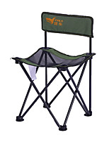 cheap -Camping Chair Portable Ultra Light (UL) Multifunctional Foldable Aluminum Alloy for 1 person Fishing Beach Camping Traveling Autumn / Fall Winter Khaki Green / Breathable / Comfortable