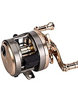 cheap -fyshflyer jh champagne gold round reel-9+1 stainless steel ball bearings, 7.0:1/7.1:1/6.0:1 gear ratio; right or left handed baitcasting fishing reel