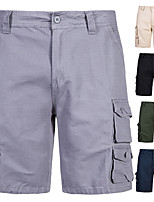 """cheap -Men's Hiking Shorts Hiking Cargo Shorts Military Solid Color Summer Outdoor 10"""" Loose Multi-Pockets Quick Dry Breathable Comfortable Cotton Shorts Bottoms Black Army Green Grey Khaki Dark Navy"""