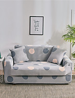 cheap -Gray Print Dustproof Stretch Sofa Cover Super Soft Fabric Fit for 1to  4 Cushion Couch and L Shape Sofa (You will Get 1 Throw Pillow Case as free Gift)