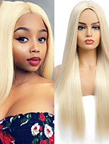 cheap -Honey Blonde Synthetic Wig Hair Long Straight Wig Like Brazilian Human Hair Wigs For Women High Temperature Hair