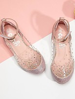 cheap -Girls' Sandals Princess Shoes Synthetics Lace up Big Kids(7years +) Daily Walking Shoes Chain Pink Gold Silver Spring / Booties / Ankle Boots