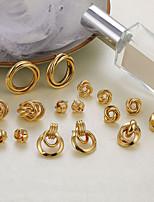cheap -multi-style earrings love fashion gold-plated alloy shell acrylic earrings