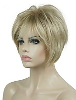 cheap -Short Layered Blonde Thick Fluffy Full Synthetic Wig Heat Ok