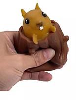 cheap -2 pcs Squeeze Squirrel Cup Children's Funny Toys Evil Decompression Tree Stumps Fidget Toys Cute Miniature Telescopic Pen Holders