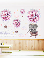 cheap -Romantic Ball Cartoon Small Elephant Cloud Hot Air Balloon Bedroom Porch Wall Beautification Decorative Wall Sticker