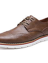 cheap -Men's Oxfords Leather Shoes Bullock Shoes Business Sporty Casual Daily Outdoor Walking Shoes Nappa Leather Cowhide Breathable Non-slipping Shock Absorbing Booties / Ankle Boots Black Khaki Brown