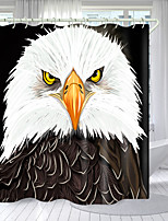 cheap -Bald Eagle Digital Printing Shower Curtain Shower Curtains  Hooks Modern Polyester New Design