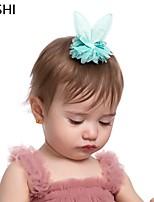 cheap -cross-border european and american fashion bowknot rabbit ears mesh children's hairpin lace fabric cute girls hair accessories hairpin