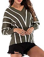 cheap -yieune sweater ladies v-neck sweatershirts leisure knitted sweaters long sleeve shirts (green m)