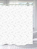 cheap -Gray Flower Digital Printing Shower Curtain Shower Curtains  Hooks Modern Polyester New Design