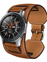 cheap -1 pcs Watch Band for Samsung Galaxy Business Band Genuine Leather Replacement  Wrist Strap for Gear S3 Frontier Gear S3 Classic Samsung Galaxy Watch 46mm Samsung Galaxy Watch 3 45mm Galaxy Watch 3