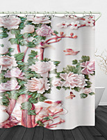 cheap -Beautiful Jade Carving flowers Print Waterproof Fabric Shower Curtain for Bathroom Home Decor Covered Bathtub Curtains Liner Includes with Hooks