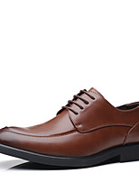 cheap -Men's Oxfords Daily Office & Career Walking Shoes PU Waterproof Wear Proof Black Khaki Fall Spring