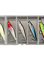 cheap -5 pcs Lure kit Fishing Lures Pencil lifelike 3D Eyes Night Glowing Sinking Bass Trout Pike Sea Fishing Lure Fishing Freshwater and Saltwater