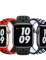 cheap -1 pcs Watch Band for Apple iWatch Sport Band Silicone Replacement  Wrist Strap for Apple Watch Series SE / 6/5/4/3/2/1