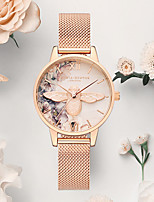 cheap -oliviaburton female watch small bee pink crystal for girlfriend gift