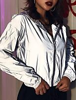 cheap -2021 cross-border wish new reflective hooded jacket women's autumn and winter amazon new slim baseball uniform jacket