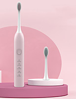 cheap -Sonic Electric Toothbrush Push Button Smart Blue Simple Large Brush Head Adult Automatic Toothbrush