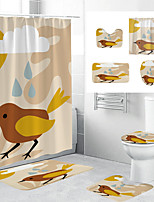 cheap -Waterproof Fabric Shower Curtain Bathroom Decoration and Modern and Geometric and Floral / Botanicals