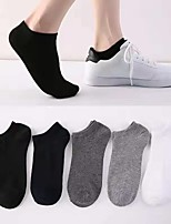 cheap -All / Men's Thin Socks - Solid Colored White Black Gray One-Size