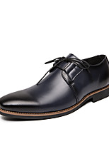 cheap -Men's Oxfords Business Classic Daily Office & Career Faux Leather Black Yellow Dark Blue Spring Summer