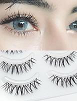 cheap -W-7 Naturally Sharpened False Eyelashes Soft And Transparent Stem Daily Nude Makeup Eyelashes Five Pairs Of Realistic Eyelashes