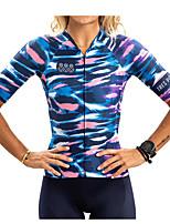 cheap -Women's Men's Short Sleeve Cycling Padded Shorts Cycling Jersey with Bib Shorts Cycling Jersey with Shorts Black / Silver Bike Sports Clothing Apparel